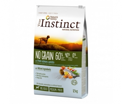 True Instinct NO GRAIN Salmon MED/MAX adult 12kg