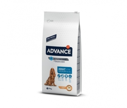 Advance Dog Medium Adult 14кг - пилешко и ориз